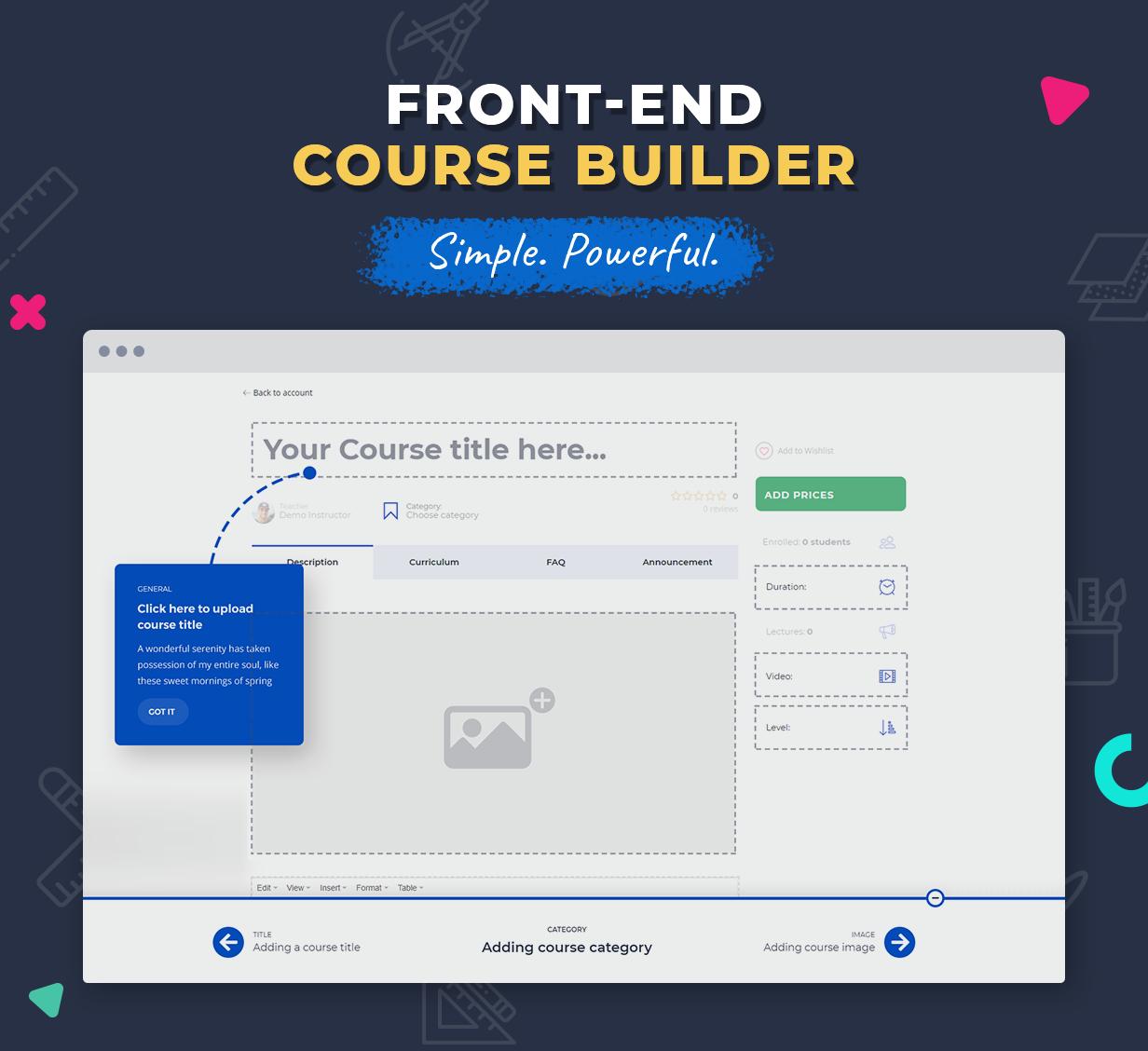 front-end course builder