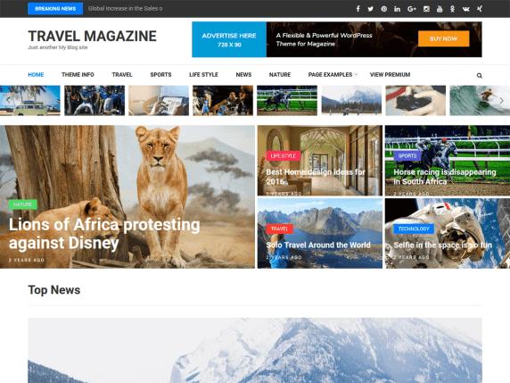 Blog website design - standard